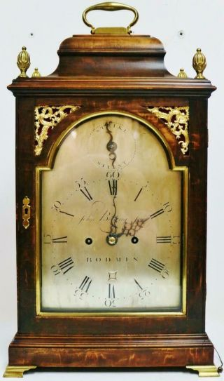 Antique English Twin Fusee Verge 8 Day Bracket Clock John Belling C1790