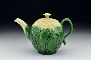 18th Century Staffordshire Whieldon Wedgwood Cauliflower Earthenware Teapot