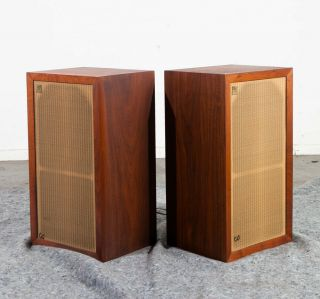 Mid Century Modern Speakers Vintage Acoustic Research Ar - 3 Ar3 Set