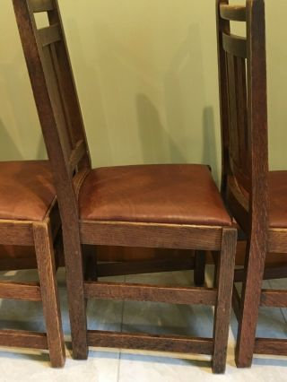 LIMBERT ARTS AND CRAFTS,  MISSION,  DINING CHAIRS - VERY GOOD, 10