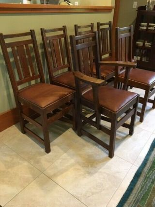 LIMBERT ARTS AND CRAFTS,  MISSION,  DINING CHAIRS - VERY GOOD, 11