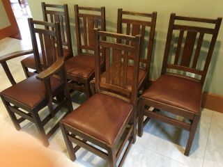 LIMBERT ARTS AND CRAFTS,  MISSION,  DINING CHAIRS - VERY GOOD, 2