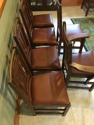 LIMBERT ARTS AND CRAFTS,  MISSION,  DINING CHAIRS - VERY GOOD, 3