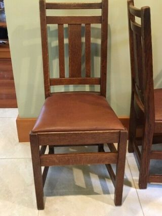 LIMBERT ARTS AND CRAFTS,  MISSION,  DINING CHAIRS - VERY GOOD, 5