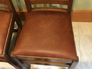 LIMBERT ARTS AND CRAFTS,  MISSION,  DINING CHAIRS - VERY GOOD, 6