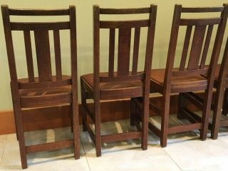 LIMBERT ARTS AND CRAFTS,  MISSION,  DINING CHAIRS - VERY GOOD, 8