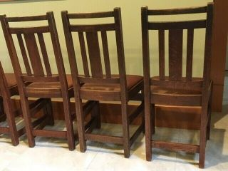 LIMBERT ARTS AND CRAFTS,  MISSION,  DINING CHAIRS - VERY GOOD, 9