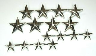 Rare Authentic Vietnam War 4 Star General Or Admiral Rank Insignia Set Sterling