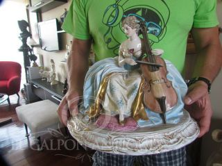 ANTIQUE ITALIAN ART SIGNED GUIDO CACCIAPUOTI LADY PORCELAIN FIGURINE 12