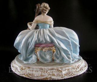 ANTIQUE ITALIAN ART SIGNED GUIDO CACCIAPUOTI LADY PORCELAIN FIGURINE 2