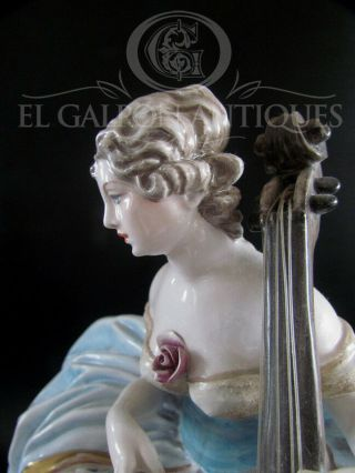 ANTIQUE ITALIAN ART SIGNED GUIDO CACCIAPUOTI LADY PORCELAIN FIGURINE 6