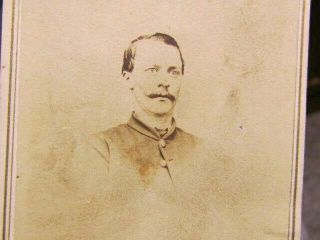 2nd Iowa Infantry Soldier Autographed Cdv Photograph