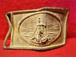 Excavated Civil War Virginia Belt Plate Recovered Charles City County,  Virginia