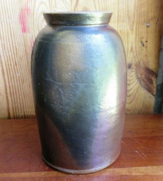 Antique Rare Piedmont Virginia Stoneware Canning Crock Ca.  1820