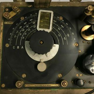 WWI 1918 Dated Signal Corps US Army Wavemeter Type SCR 61 Crystal Radio 10
