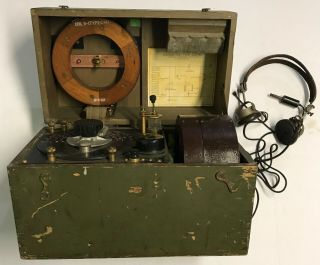 Wwi 1918 Dated Signal Corps Us Army Wavemeter Type Scr 61 Crystal Radio