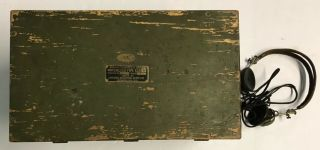 WWI 1918 Dated Signal Corps US Army Wavemeter Type SCR 61 Crystal Radio 2