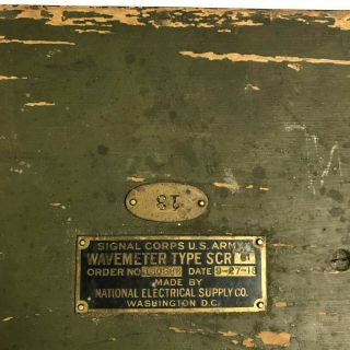 WWI 1918 Dated Signal Corps US Army Wavemeter Type SCR 61 Crystal Radio 3