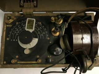 WWI 1918 Dated Signal Corps US Army Wavemeter Type SCR 61 Crystal Radio 9