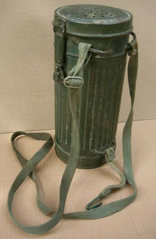 Rare Wwii German Decontamination Gas Mask Canister