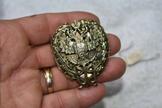 Rare Pre Ww1 Vintage Imperial Russian Badge 14 Kt Gold