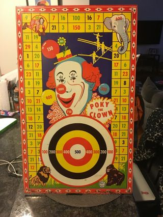 Poky The Clown Target Game Vary Rare & Hard To Find Wyandotte Tin Toy 1940saas