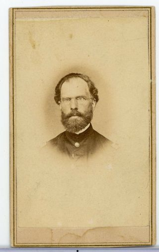 RARE CDV CIVIL WAR AFRICAN AMERICAN CONTRABAND & HORACE JAMES OFFICER 25TH MA 3