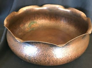 Albert Berry (berrys) Craft Shop Seattle Hammered Copper Bowl,  Early 1900s