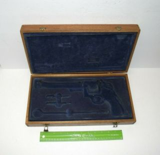 Large Vintage Wood Smith & Wesson?? Gun Case Box Only,  Display Box,  No - Reserve