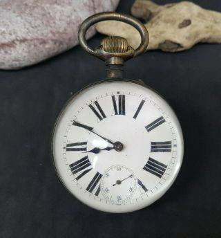 Very Rare Large Antique Crystal Ball Clock 1900