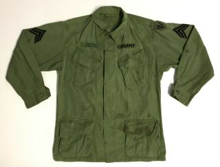 Vietnam 1967 Dated Jungle Fatigue Shirt With Theater Made Insignia
