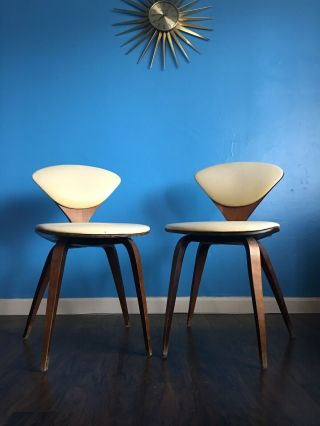 Norman Cherner Plycraft Chairs 1960's,  Set Of 2 Mid Century Modern