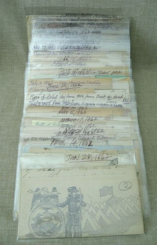 Civil War Archive of George S.  Walker / diaries,  discharges,  photos,  knife,  etc. 10