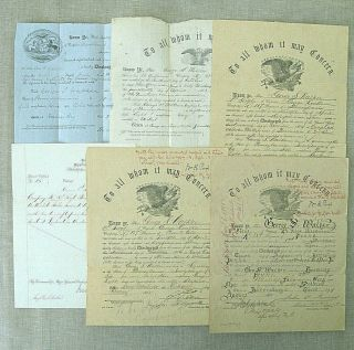 Civil War Archive of George S.  Walker / diaries,  discharges,  photos,  knife,  etc. 11