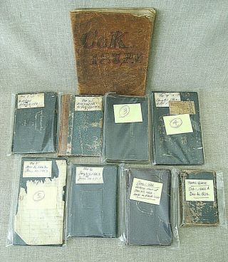 Civil War Archive of George S.  Walker / diaries,  discharges,  photos,  knife,  etc. 2