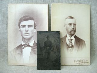 Civil War Archive of George S.  Walker / diaries,  discharges,  photos,  knife,  etc. 3