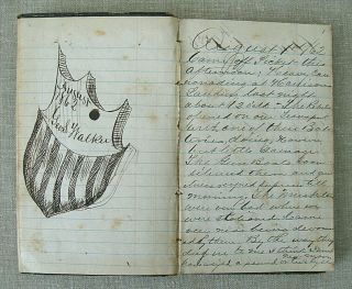 Civil War Archive of George S.  Walker / diaries,  discharges,  photos,  knife,  etc. 5