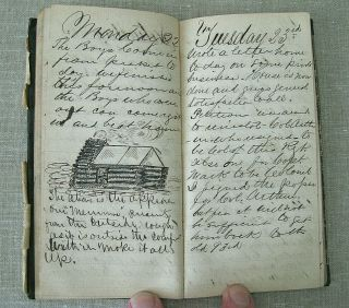 Civil War Archive of George S.  Walker / diaries,  discharges,  photos,  knife,  etc. 6