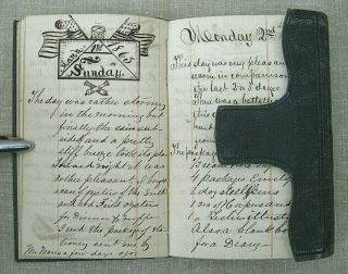 Civil War Archive of George S.  Walker / diaries,  discharges,  photos,  knife,  etc. 7
