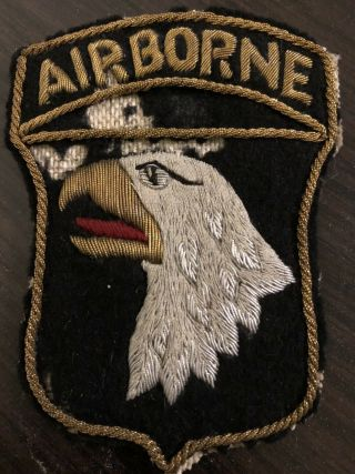 Post Wwii 101st Airborne Div Bullion Us Patch German Made Theater Made