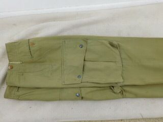 Vintage Ww 2 Standard Issue Model 1942 Parachute Jump Trousers