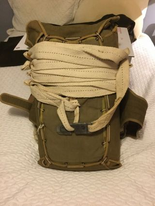Rare Wwii Paratrooper T - 7 Parachute Pack And Silk