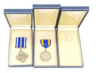 WWII US Navy Pilot KIA Cased Medal Trio Distinguished Flying Cross Air Medal USN 6
