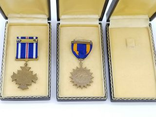 WWII US Navy Pilot KIA Cased Medal Trio Distinguished Flying Cross Air Medal USN 7
