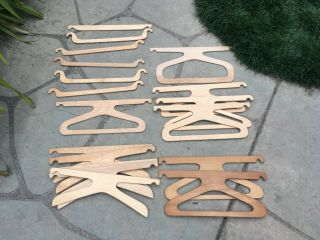 18 Antique Louis Vuitton Wood Wardrobe Trunk Hanger Hangers
