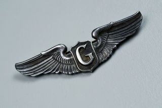 Wwii U.  S.  Army Air Corps Glider Pilot Wing - Pin Back,  Sterling