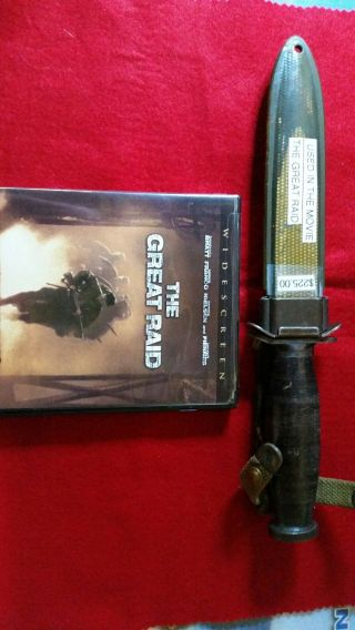 M3 Style Fighting Knife Movie Prop With Dvd.  Possibly Us Unmarked.