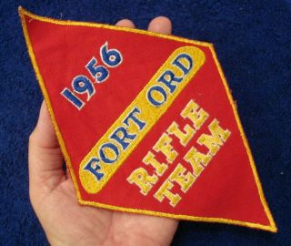 Rare 1956 U.  S.  Army 5th Infantry Division Fort Ord California Rifle Team Patch
