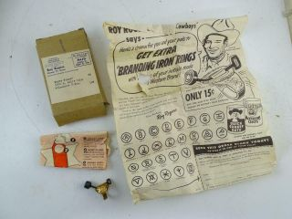 Vintage Roy Rogers Novelty Branding Iron Ring Cowboy Quaker Oats Cereal Premium