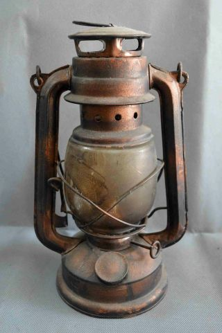Collectable Tibet Old Copper Carve Ancient Usable Chinese Art Souvenir Oil Lamp